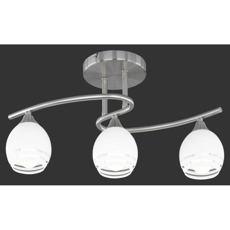 Trio CURVA 605600307 mennyezeti lámpa nikkel fém excl. 3 x E14, max. 40W E14 3 db IP20