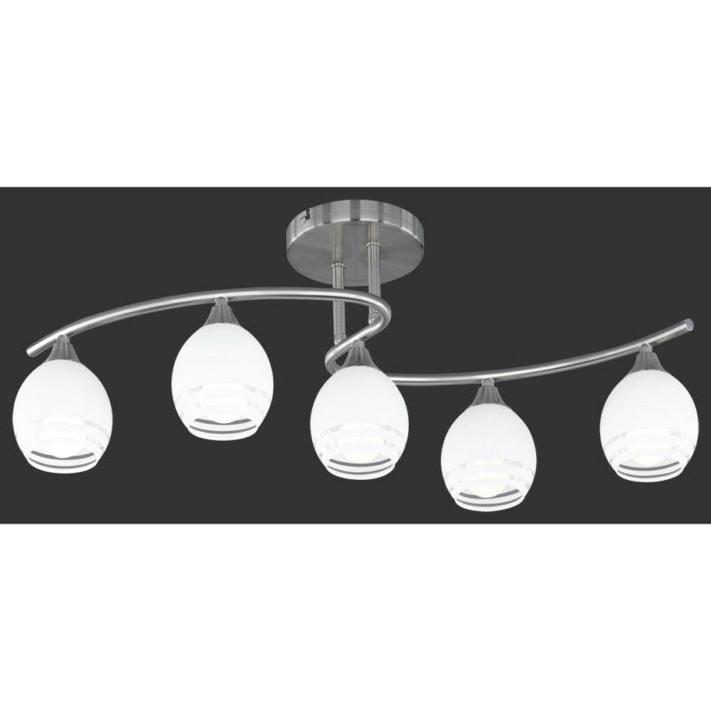 Trio CURVA 605600507 mennyezeti lámpa nikkel fém excl. 5 x E14, max. 40W E14 5 db IP20