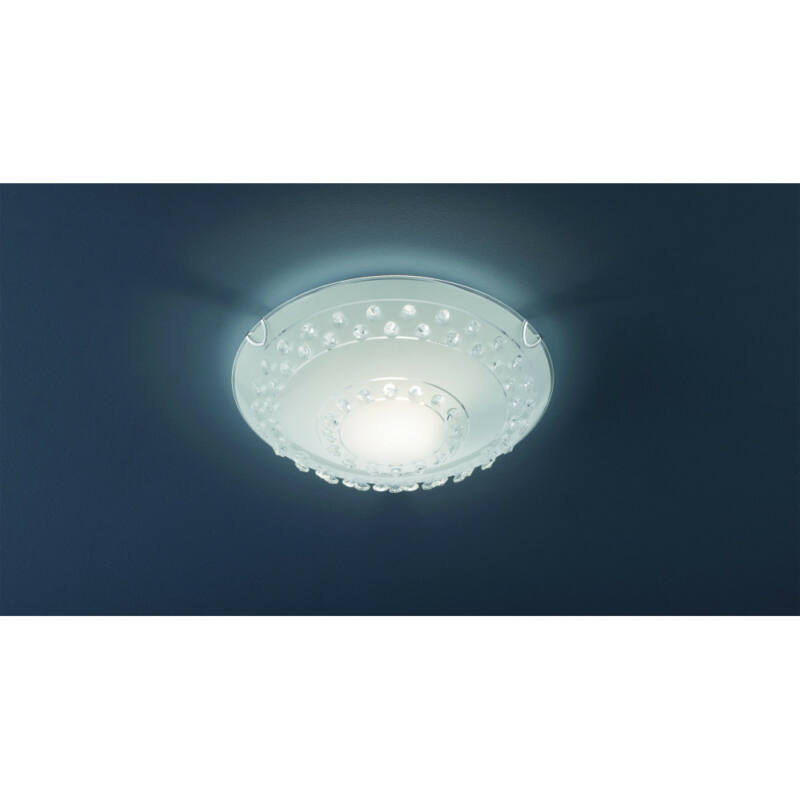 Trio CHRISTOBAL 607700100 mennyezeti lámpa  fehér   fém   excl. 1 x E27, max. 40W   IP20