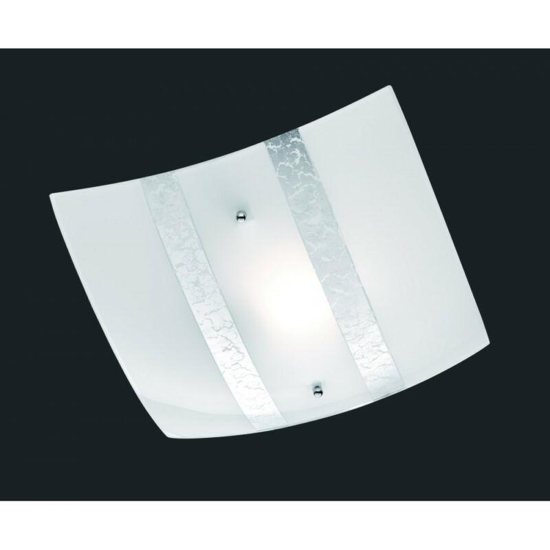 Trio NIKOSIA 608700189 mennyezeti lámpa  ezüst   üveg   excl. 1 x E27, max. 40W   IP20