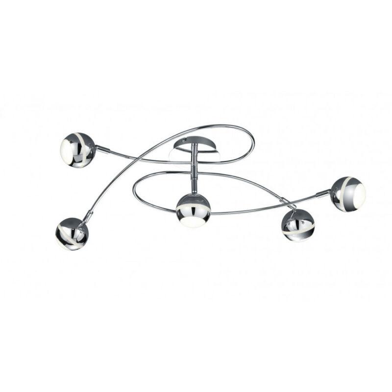 Trio BALOUBET 628290506 mennyezeti lámpa króm fém incl. 5 x SMD, 3,8W, 3100K, 350Lm LED 5 db 1200 lm 2700 K IP20