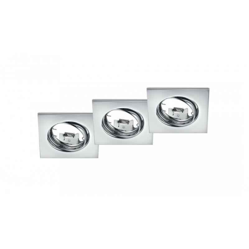 Trio JURA 650000306 spot lámpa keret króm fém excl. 3 x GU10, max. 15W GU10 3 db IP20