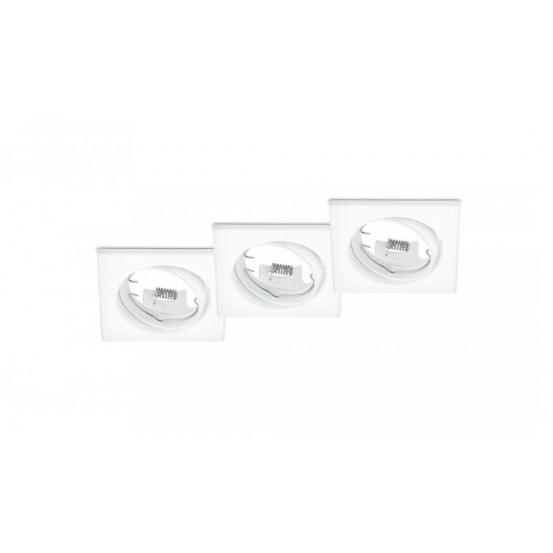Trio JURA 650000331 spot lámpa keret matt fehér fém excl. 3 x GU10, max. 15W GU10 3 db IP20