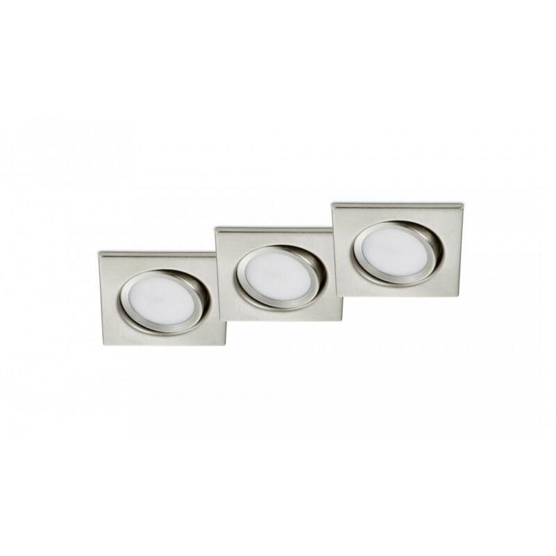 Trio RILA 650210307 álmennyezetbe építhető lámpa matt nikkel fém incl. 3 x SMD, 5W, 3000K, 370Lm SMD 3 db 370 lm IP20 A+