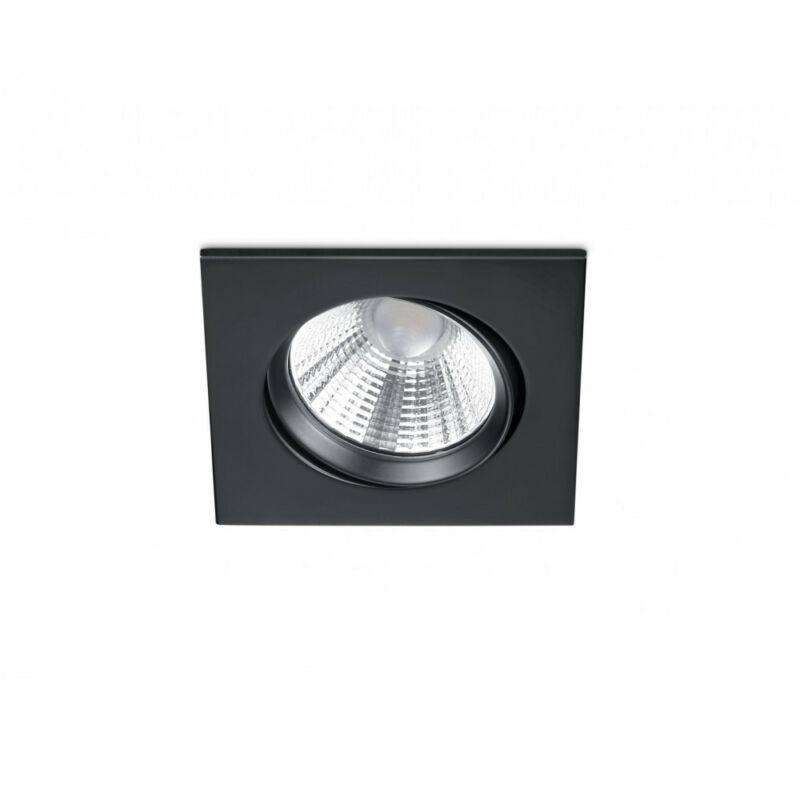 Trio PAMIR 650410132 álmennyezetbe építhető lámpa matt fekete fém incl. 1 x SMD, 5,5W, 3000K, 345Lm SMD 1 db 345 lm IP23 A