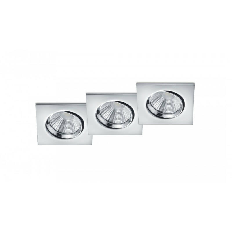 Trio PAMIR 650410306 álmennyezetbe építhető lámpa króm fém incl. 3 x SMD, 5,5W, 3000K, 345Lm SMD 3 db 345 lm IP23 A