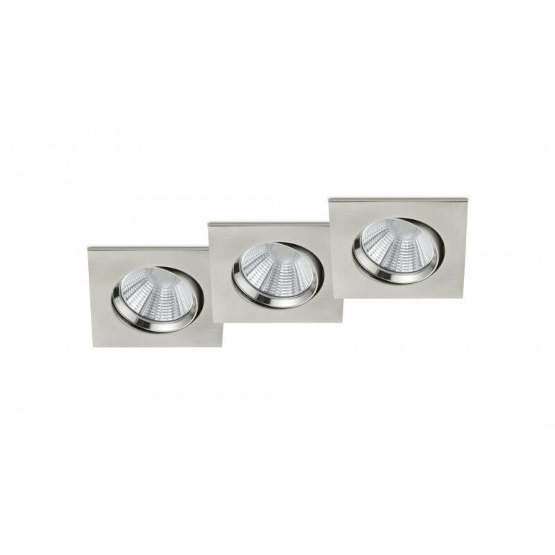 Trio PAMIR 650410307 álmennyezetbe építhető lámpa matt nikkel fém incl. 3 x SMD, 5,5W, 3000K, 345Lm SMD 3 db 345 lm IP23 A