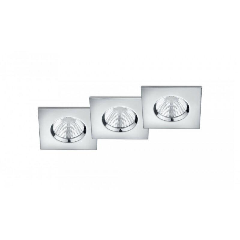 Trio ZAGROS 650610306 álmennyezetbe építhető lámpa króm fém incl. 3 x SMD, 5,5W, 3000K, 345Lm SMD 3 db 345 lm IP65 A