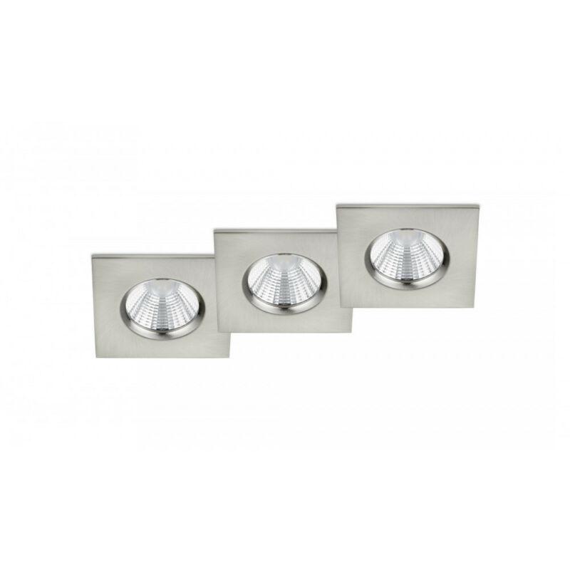 Trio ZAGROS 650610307 álmennyezetbe építhető lámpa matt nikkel fém incl. 3 x SMD, 5,5W, 3000K, 345Lm SMD 3 db 345 lm IP65 A
