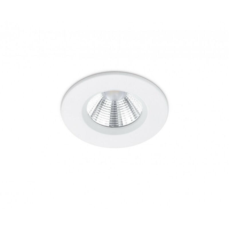 Trio ZAGROS 650710131 álmennyezetbe építhető lámpa matt fehér fém incl. 1 x SMD, 5,5W, 3000K, 345Lm SMD 1 db 345 lm IP65 A