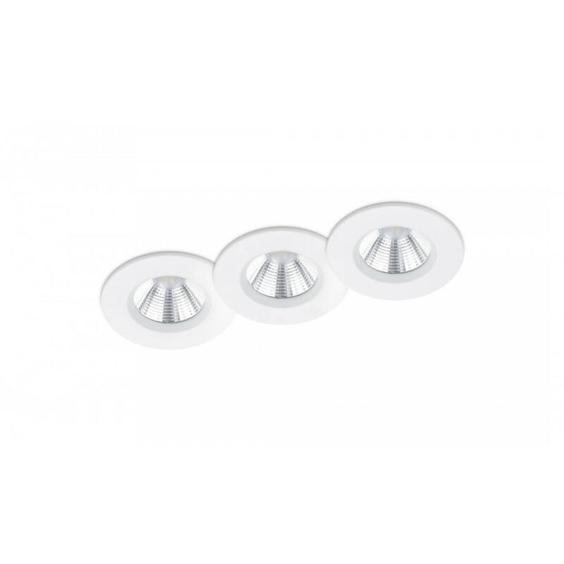 Trio ZAGROS 650710331 álmennyezetbe építhető lámpa matt fehér fém incl. 3 x SMD, 5,5W, 3000K, 345Lm SMD 3 db 345 lm IP65 A