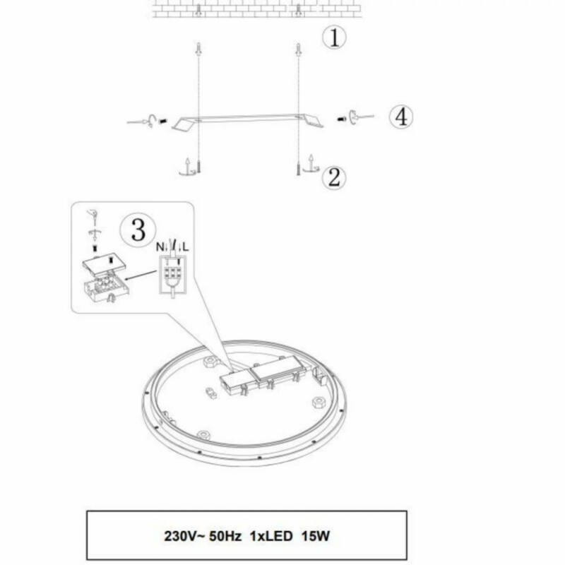 Trio CESAR 656411506 mennyezeti lámpa  króm   fém   incl. 1 x SMD, 15W, 3000K, 1350Lm   1350 lm  3000 K  IP20   A+