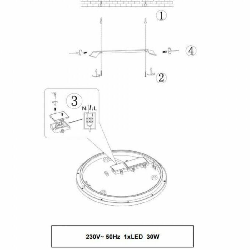 Trio CESAR 656413006 mennyezeti lámpa  króm   fém   incl. 1 x SMD, 30W, 3000K, 2800Lm   2800 lm  3000 K  IP20   A+