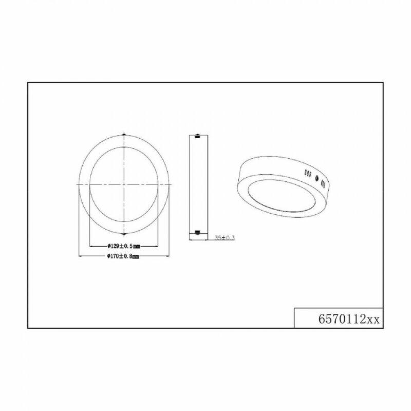 Trio CENTO 657011207 mennyezeti lámpa  matt nikkel   alumínium   incl. 1 x SMD, 11,5W, 3000K, 1100Lm   1300 lm  3000 K  IP20   A+