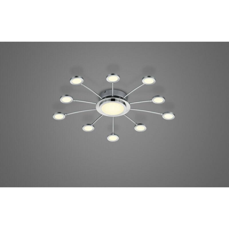 Trio BODRUM 673311106 mennyezeti lámpa  króm   fém   incl. 10 x SMD, 2,1W, 3000 - 6500K, 200Lm   11 db  200 lm  3000 K  IP20   A++