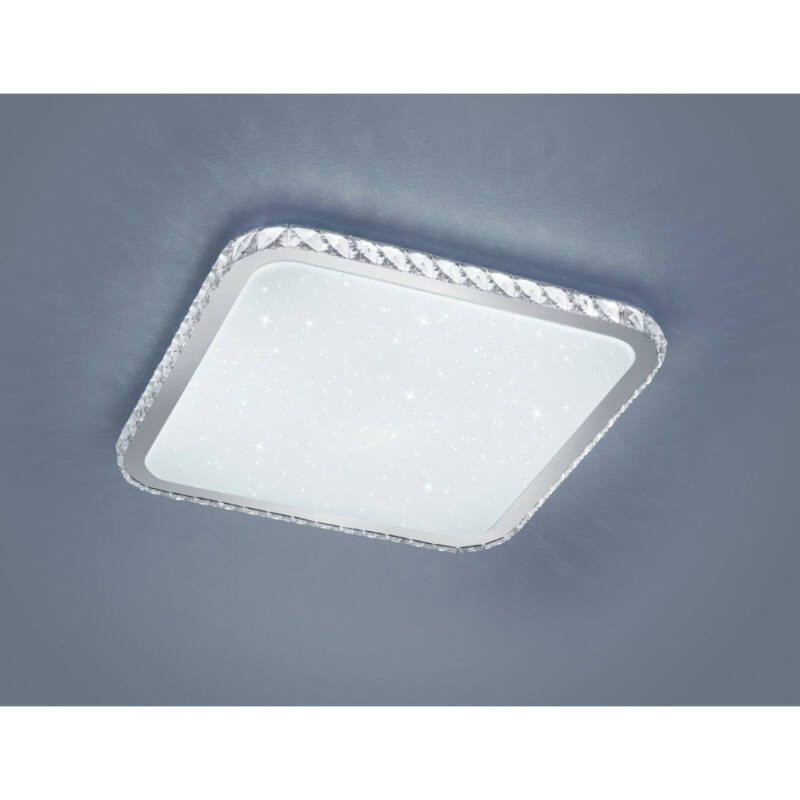Trio SAPPORO 677690106 mennyezeti lámpa  fehér   műanyag   incl. 1 x SMD, 60W, 3000 - 5500K, 4500Lm   4500 lm  3000 K  IP20   A