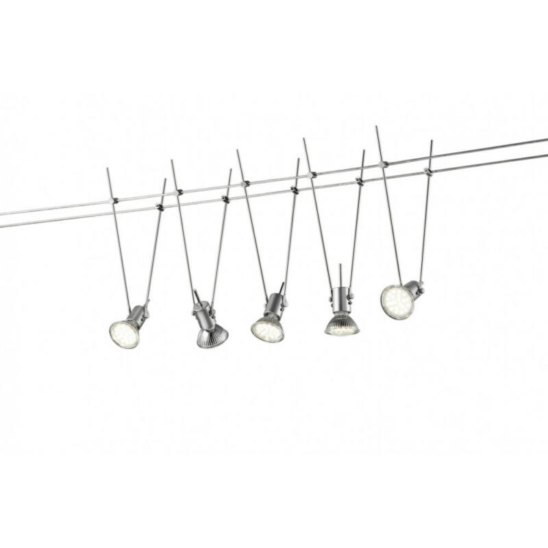 Trio BASIC 770010587 mennyezeti lámpa titán fém incl. 5 x GU5.3, 3W, 3000K, 260Lm GU5.3 5 db 260 lm 3000 K IP20