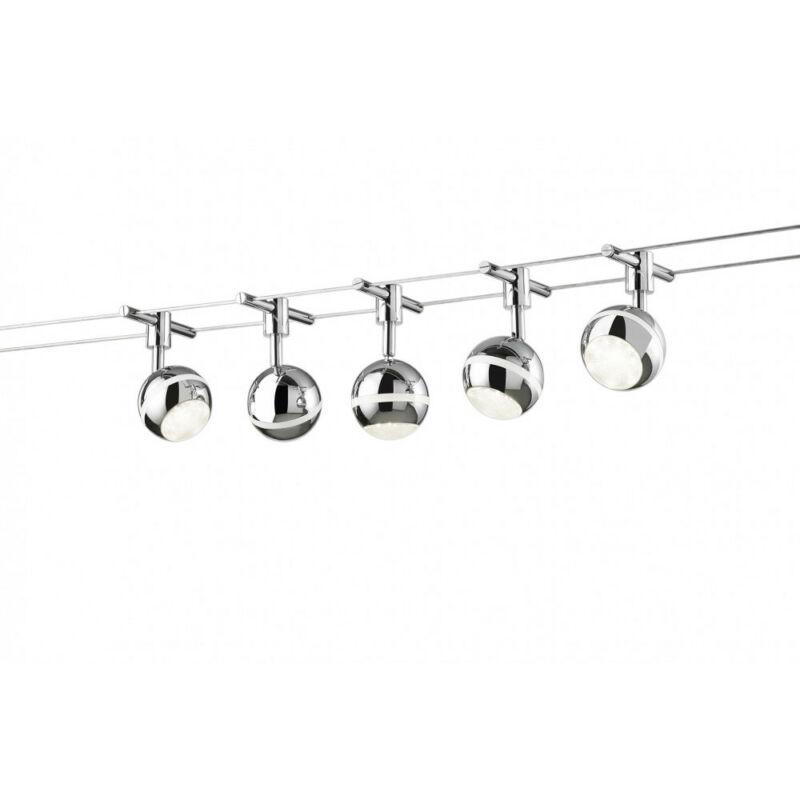 Trio BALOUBET 778210506 mennyezeti lámpa  króm   fém   incl. 5 x SMD, 3,8W, 3100K, 350Lm   SMD   5 db  350 lm  3100 K  IP20