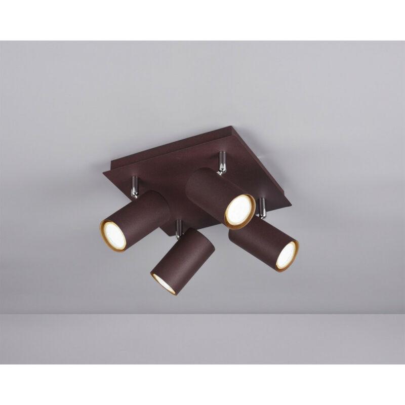 Trio MARLEY 802430424 mennyezeti lámpa  rozsda   fém   excl. 4 x GU10   GU10   4 db  IP20
