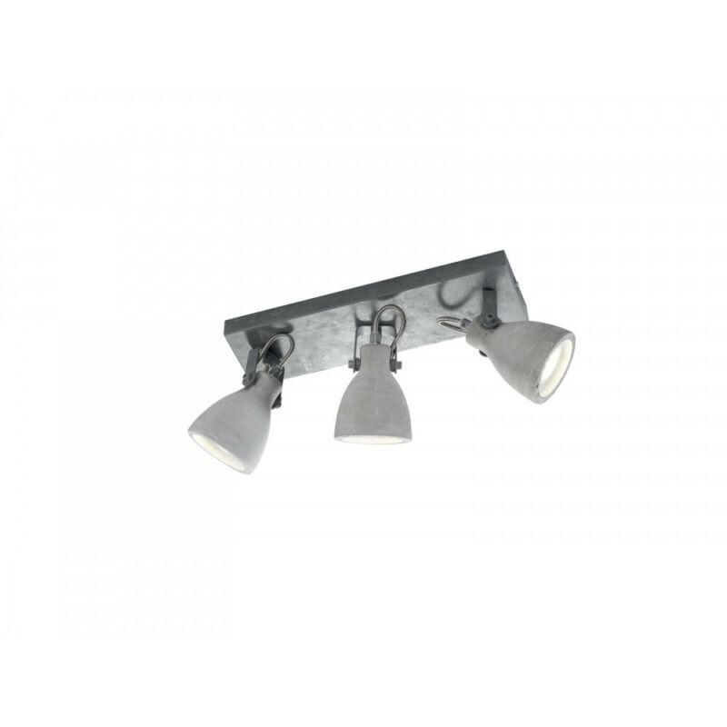 Trio CONCRETE 802500378 mennyezeti lámpa  beton   fém   excl. 3 x GU10, max. 42W   GU10   3 db  IP20