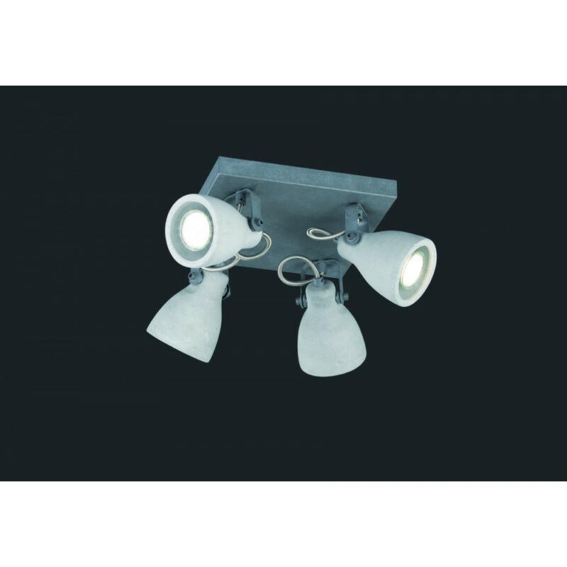 Trio CONCRETE 802530478 mennyezeti spot lámpa beton fém excl. 4 x GU10, max. 42W GU10 4 db IP20
