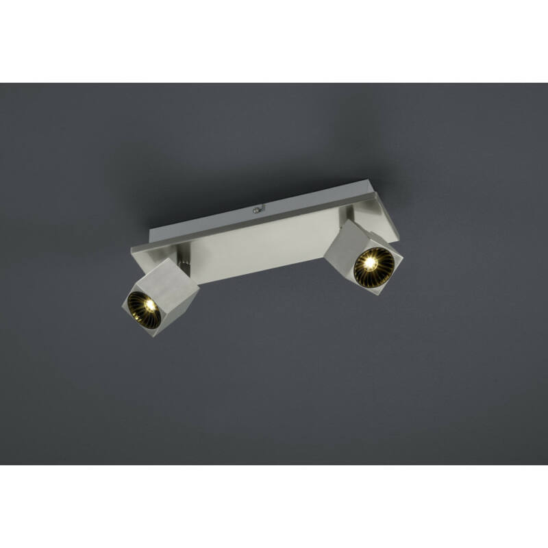 Trio CUBA 828510307 mennyezeti lámpa  matt nikkel   fém   incl. 2 x SMD, 4,3W, 3000K, 430Lm   430 lm  IP20   A+