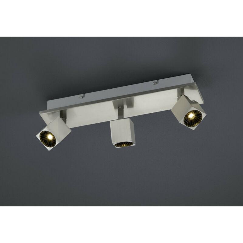 Trio CUBA 828510407 mennyezeti lámpa  matt nikkel   fém   incl. 3 x SMD, 4,3W, 3000K, 430Lm   430 lm  IP20   A+