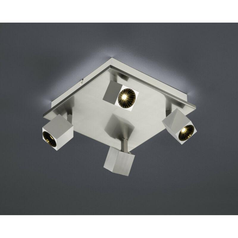 Trio CUBA 828530507 mennyezeti lámpa  matt nikkel   fém   incl. 4 x SMD, 4,3W, 3000K, 430Lm   430 lm  IP20   A+