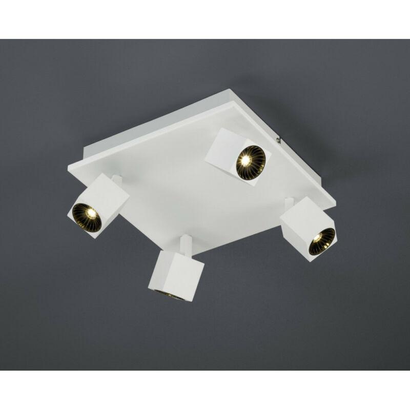 Trio CUBA 828530531 mennyezeti lámpa  matt fehér   fém   incl. 4 x SMD, 4,3W, 3000K, 430Lm   430 lm  IP20   A+