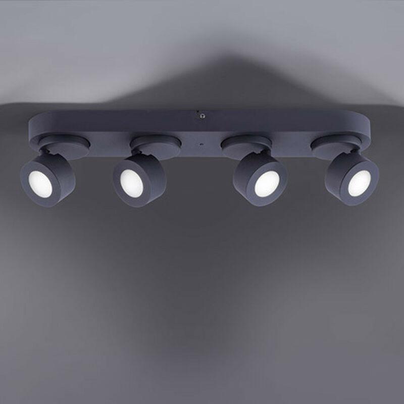 Trio SANCHO 850110432 wiz connected matt fekete fém incl. 4 x 3W RGBW-LED/ 3000-5000K/ 300Lm SMD 4 db 300 lm IP20 A+