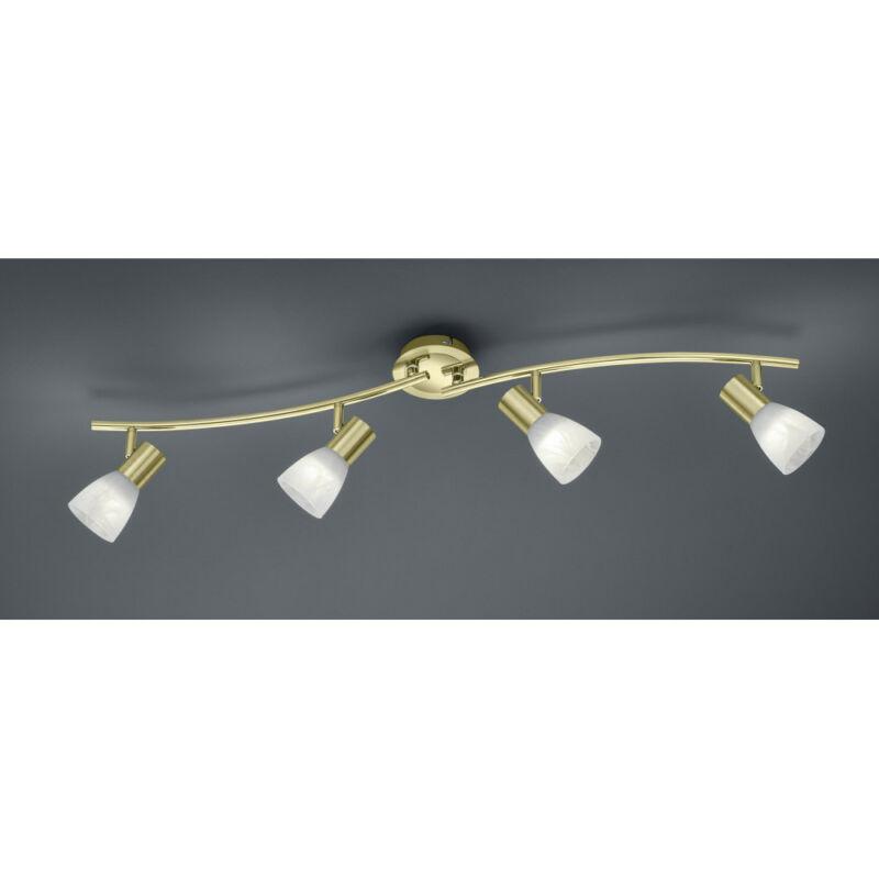 Trio LEVISTO 871010408 mennyezeti lámpa sárgaréz fém incl. 4 x E14, 5W, 3000K, 400Lm E14 4 db 470 lm 3000 K IP20