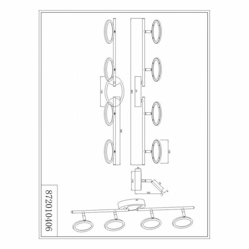 Trio Duellant 872010406 mennyezeti lámpa  króm   fém   LED - 4 x 4,3W   400 lm  3000 K  IP20   A+