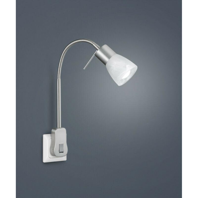 Trio LEVISTO 891010107 alabástrom fali lámpa matt nikkel fém incl. 1 x E14, 6W, 3000K, 470Lm E14 1 db IP20