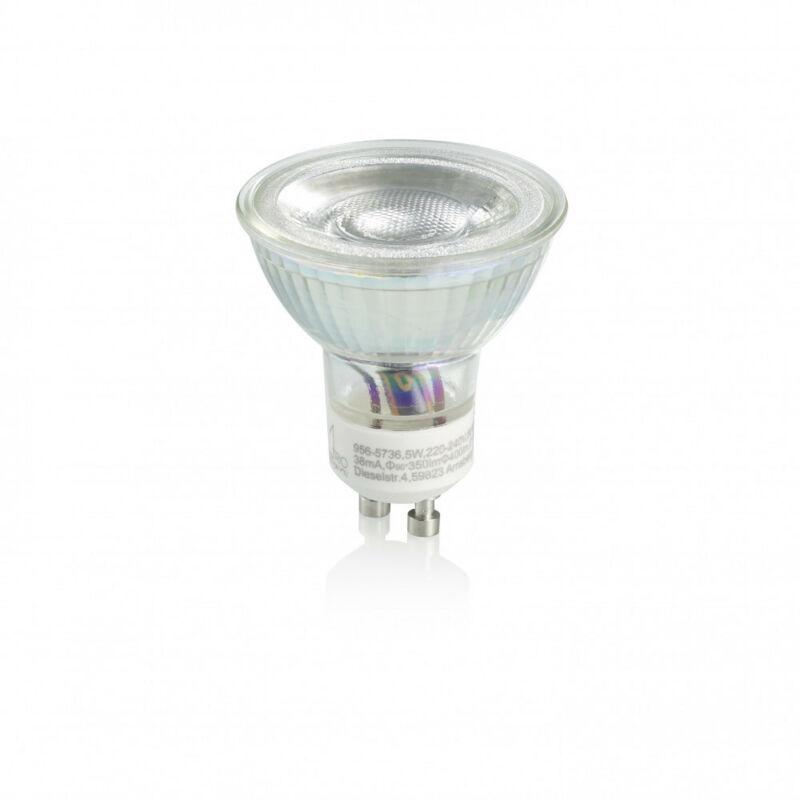 Trio GU10 SMD 956-5736 led izzó gu10 ezüst üveg 5W/ 400Lm/ 3000K/ switch-dim GU10 1 db 400 lm A+