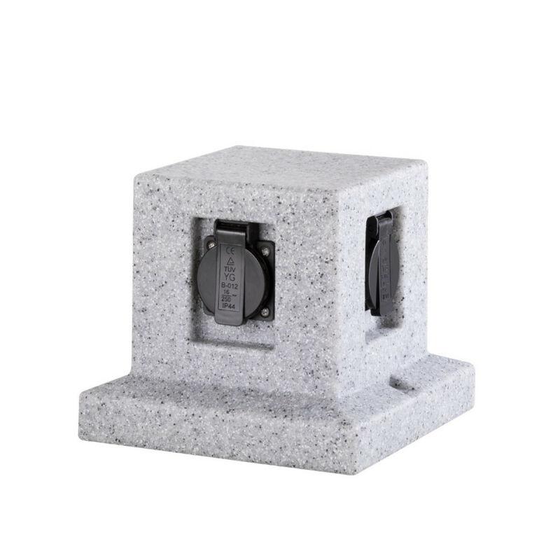 Trio GARDEN SOCKET 9963-11 kültéri dugalj szürke műanyag incl. 4 x Schuko-Plug IP44