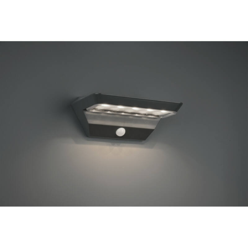 Trio MENDOZA R22241142 napelemes kültéri fali lámpa incl. 5W LED/ 3000K/ 400lm