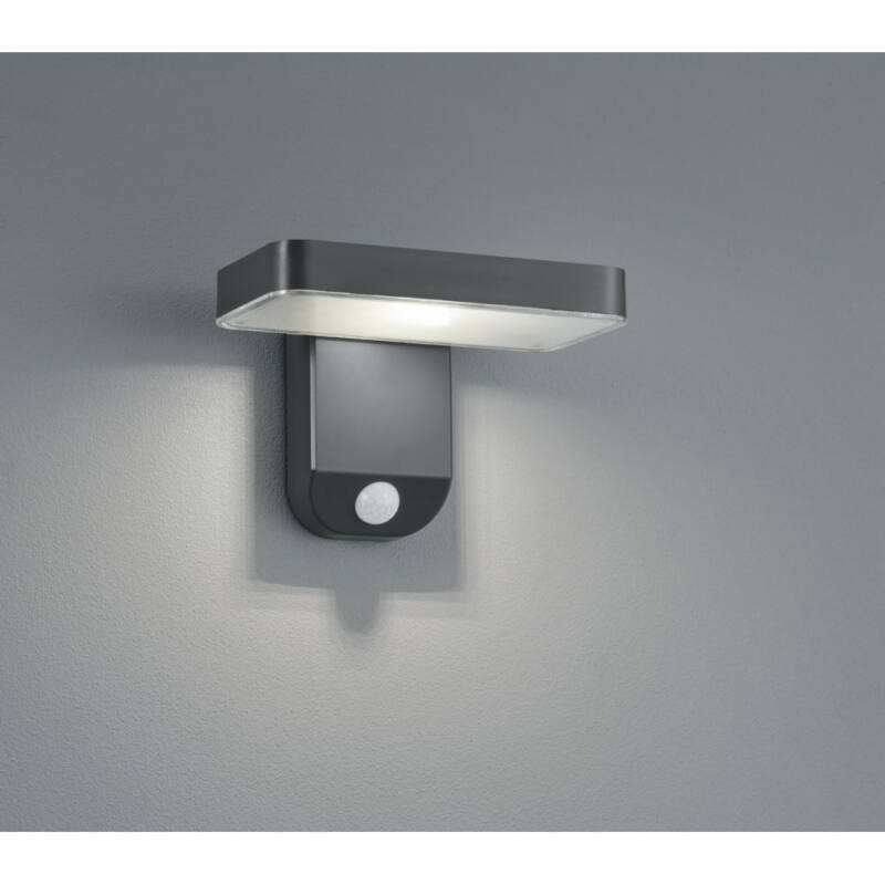 Trio ESQUEL R22261142 napelemes kültéri fali lámpa incl. 4,5W LED/ 3000K/ 200lm