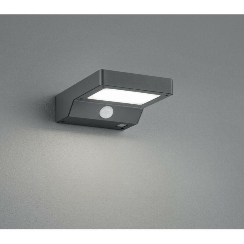 Trio FOMOSA R22281142 napelemes kültéri fali lámpa incl. 4,8W LED/ 3000K/ 390lm