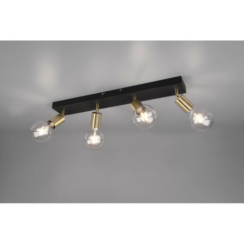 Trio Vannes R80184008 mennyezeti spot lámpa sárgaréz fém E27 4 db IP20
