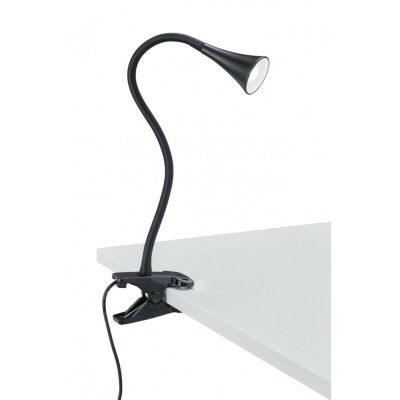 Trio VIPER R22398102 csiptetős asztali lámpa fekete műanyag incl. 1 x SMD, 3W, 3000K, 260Lm 1 db 300 lm 3000 K IP20 A++