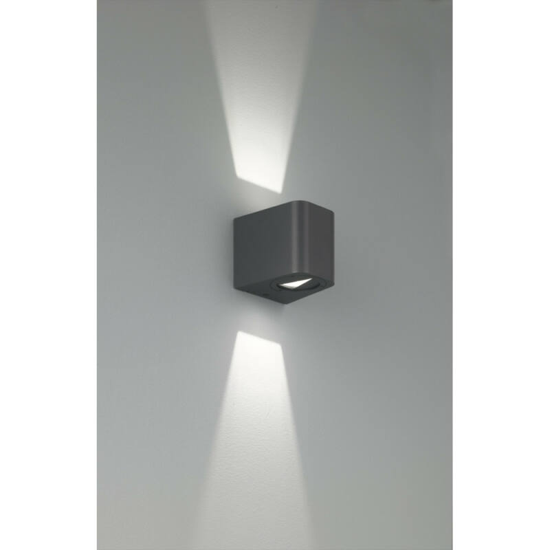 Trio BOGOTA R28200642 kültéri fali led lámpa antracit alumínium incl. 2 x SMD, 3W, 3000K, 260Lm 260 lm 3000 K IP54 A++