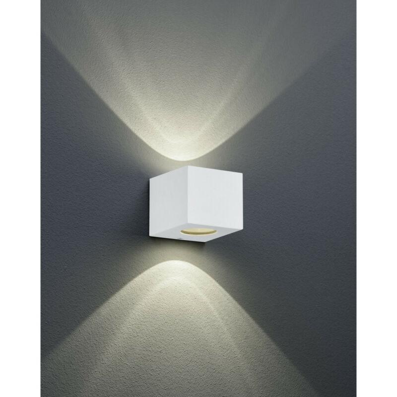 Trio CORDOBA R28222631 kültéri fali led lámpa matt fehér műanyag incl. 2 x 2W LED, 3000K, 2 x 200Lm SMD 2 db 200 lm IP44 A+
