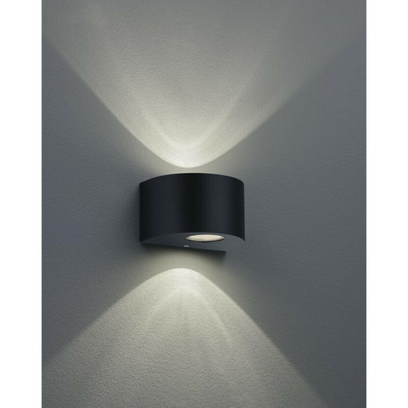 Trio ROSARIO R28232632 kültéri fali led lámpa matt fekete műanyag incl. 2 x 2W LED, 3000K, 2 x 200Lm SMD 2 db 200 lm IP44 A+