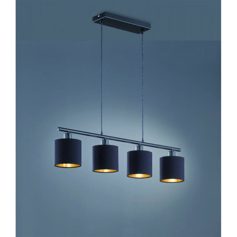Trio TOMMY R30334079 étkező lámpa matt fekete fém excl. 4 x E14, max. 28W E14 4 db IP20