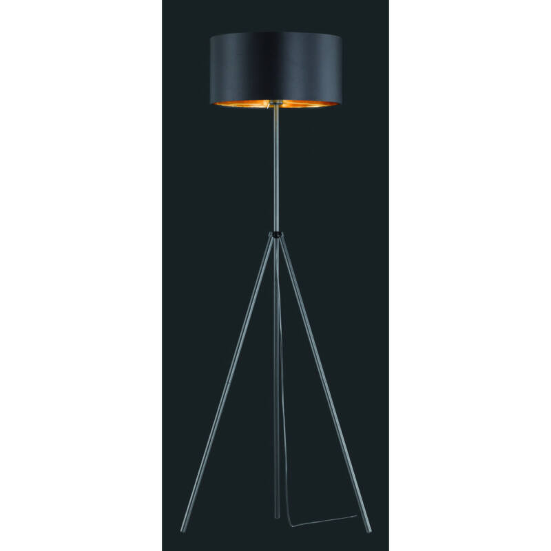 Trio DANIEL R40271032 állólámpa matt fekete fém excl. 1 x E27, max. 60W E27 1 db IP20