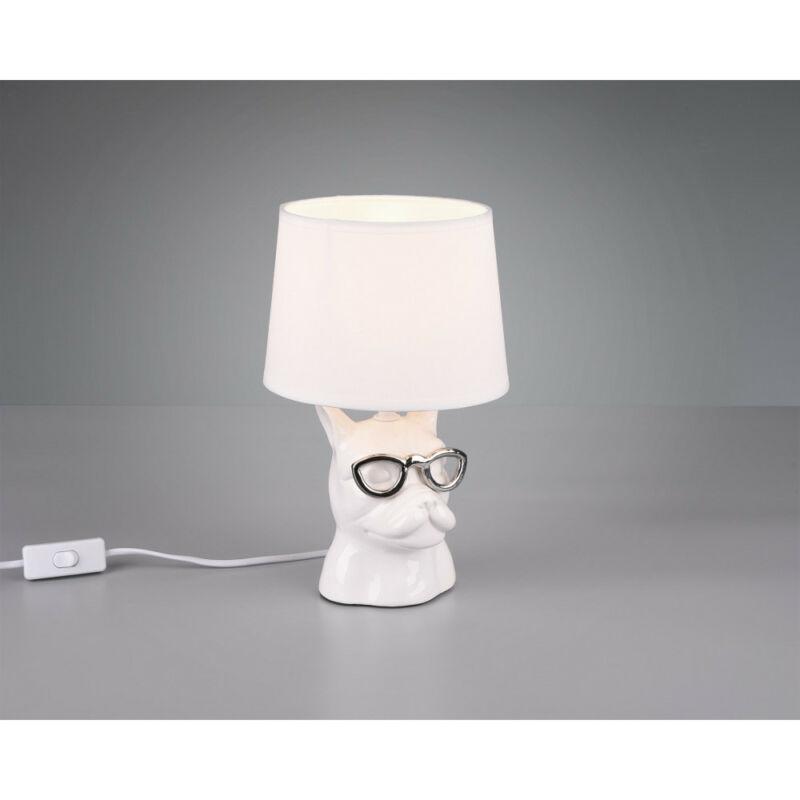 Trio DOSY R50231001 éjjeli asztali lámpa fehér kerámia excl. 1 x E14 E14 1 db IP20