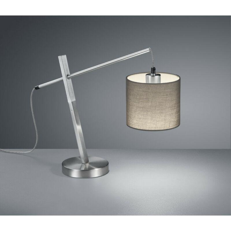 Trio PADME R50361007 éjjeli asztali lámpa matt nikkel fém excl. 1 x E27 E27 1 db IP20