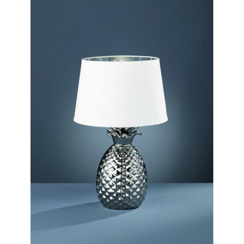 Trio PINEAPPLE R50431089 éjjeli asztali lámpa ezüst kerámia excl. 1 x E27, max. 60W E27 1 db IP20