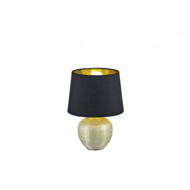Trio LUXOR R50621079 asztali lámpa arany kerámia excl. 1 x E14, max. 40W E14 1 db IP20