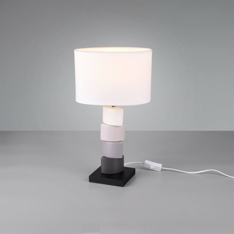 Trio KANO R50781001 éjjeli asztali lámpa fehér kerámia excl. 1 x E27 E27 1 db IP20